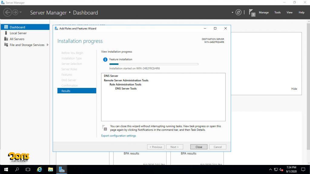 راهنمای تصویری نصب DNS در ویندوز سرور 2016
