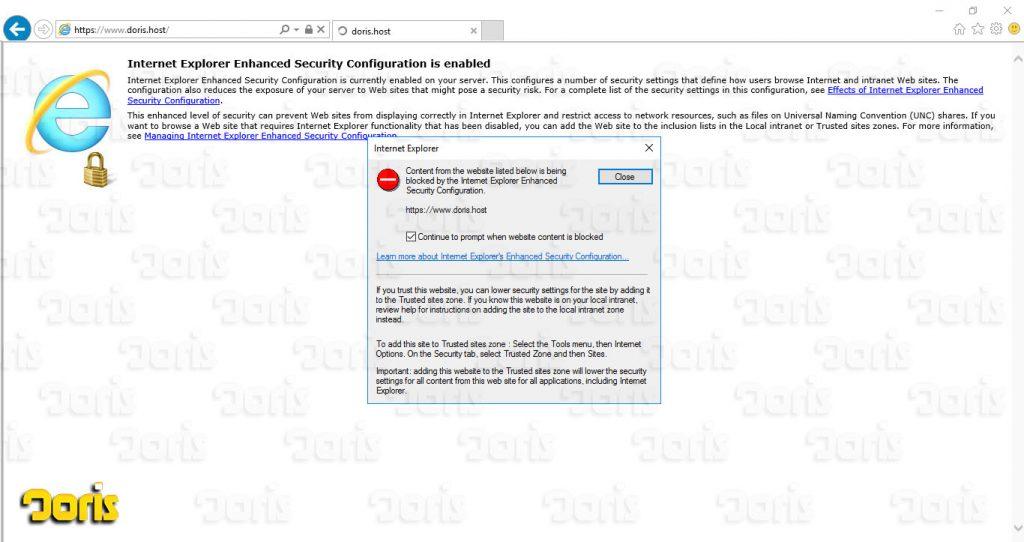 مشکلات امنیتی دلیل بلاک کردن سایت توسط اینترنت اکسپلورر