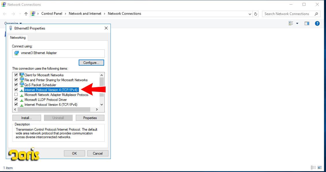 اضافه کردن IP دوم در ویندوز سرور 2016