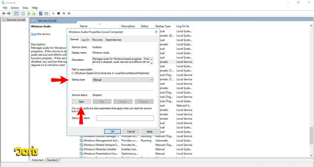 فعال کردن کارت صدا در ویندوز سرور