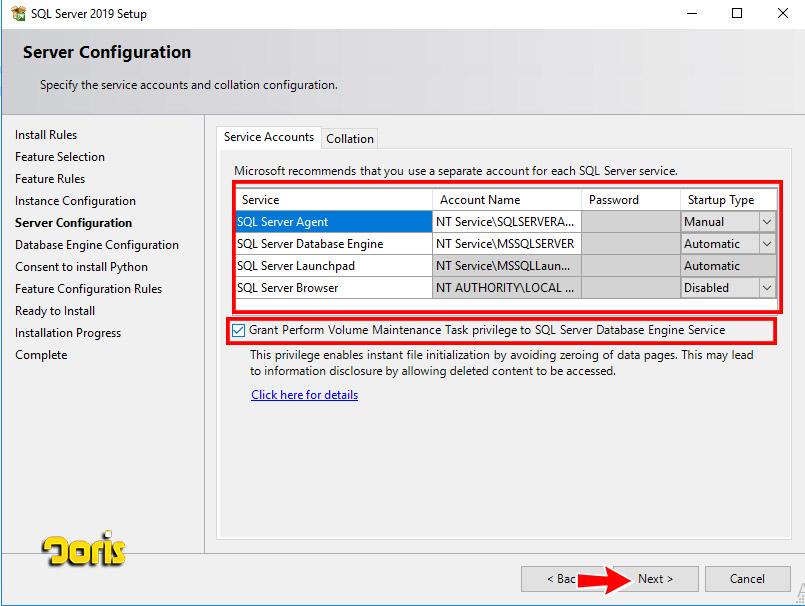 مراحل نصب SQL Server 2019
