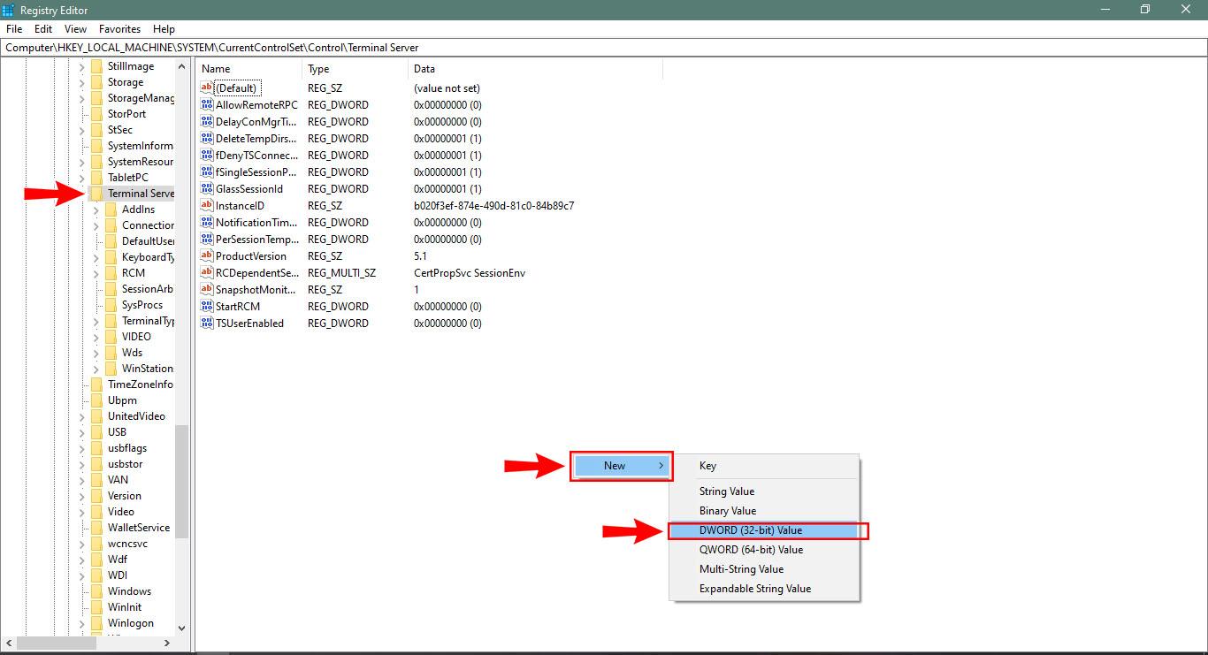 ایجاد فایل DWORD در رجیستری